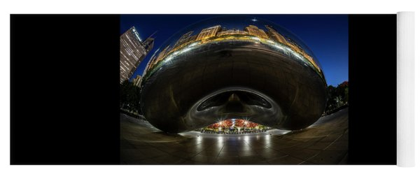 A Fisheye Perspective Of Chicago's Bean Yoga Mat