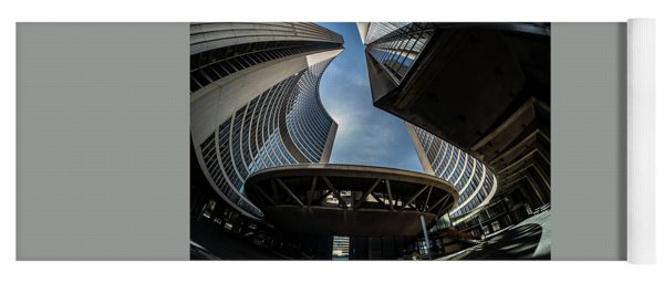 A Fisheye View Of The Toronto City Hall Building Yoga Mat