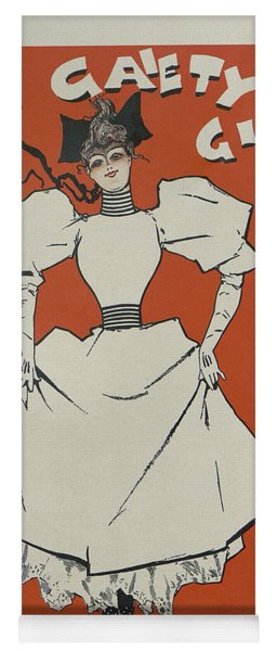 A Gaiety Girl, 1894 French Vintage Poster Yoga Mat