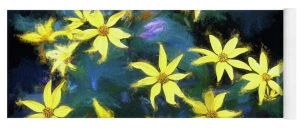 A Galaxy Of Sunflowers In Langdon Woods  Yoga Mat