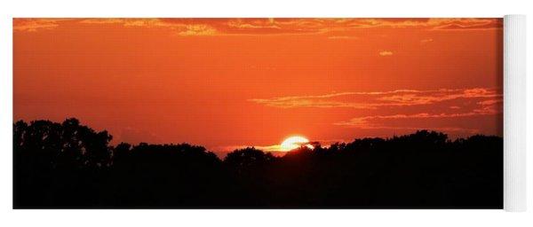 A Golden Sunset  Yoga Mat
