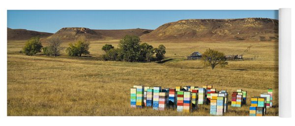 Yoga Mat featuring the photograph A Great Place To Bee by Carl Young