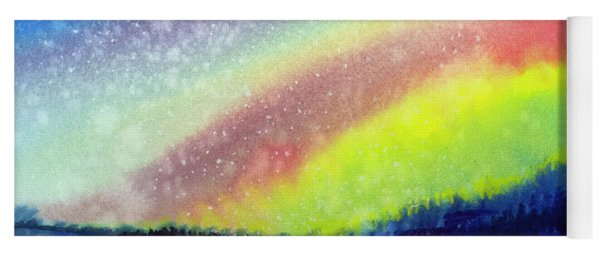 A Little Aurora Borealis Yoga Mat