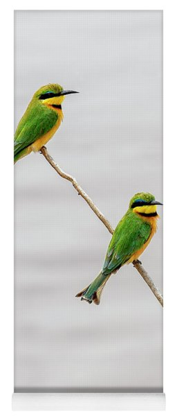 Yoga Mat featuring the photograph A Little Bee Eater Couple by Kay Brewer