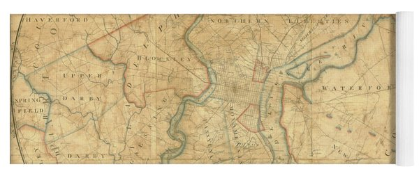 A Plan Of The City Of Philadelphia And Environs, 1808-1811 Yoga Mat