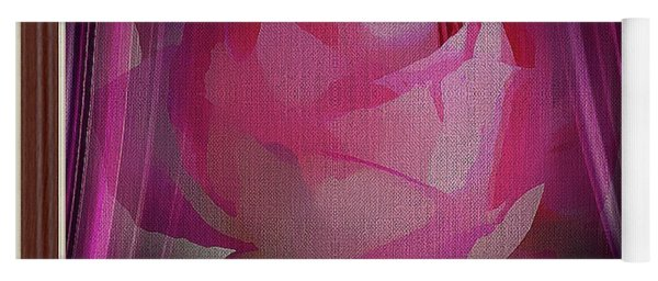 A Purple Rose On Stage Yoga Mat