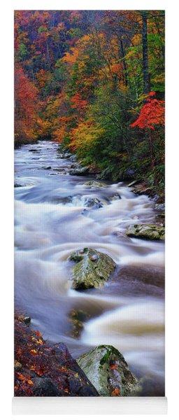 A River Runs Through Autumn Yoga Mat