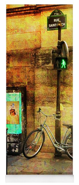 Yoga Mat featuring the photograph A Saint Bicycle Of All Seasons II by Craig J Satterlee
