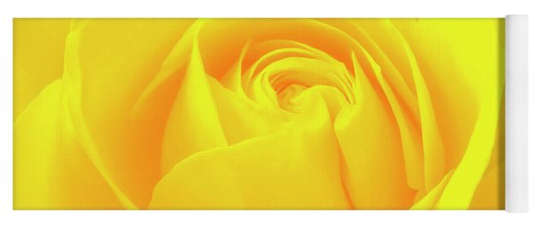 A Yellow Rose For Joy And Happiness Yoga Mat