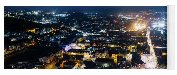 Aberystwyth At Night From The Air Yoga Mat