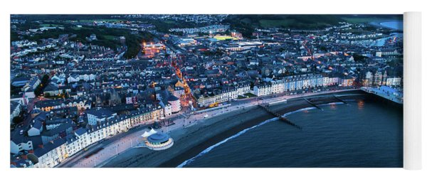 Aberystwyth From The Air At Night Yoga Mat