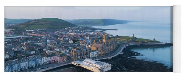 Aberystwyth From The Air In The Morning Yoga Mat