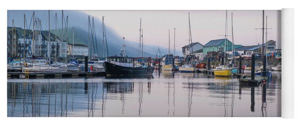 Aberystwyth Harbour In The Eatly Morning Yoga Mat