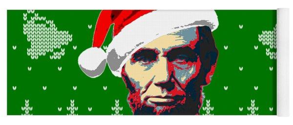 Abraham Lincoln Merry Christmas Yoga Mat