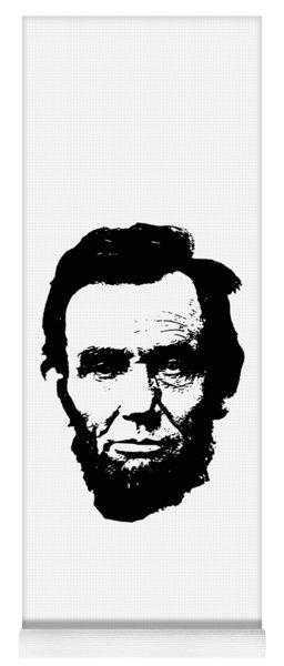 Abraham Lincoln Minimalistic Pop Art Yoga Mat