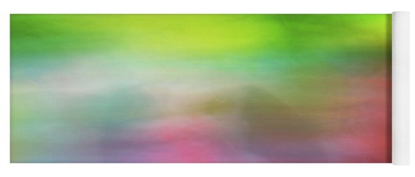 Abstract Blurred Rainbow Lines Background Of Fractal Artwork Yoga Mat
