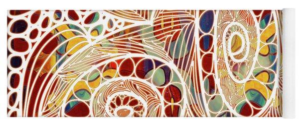 Abstract Bold Colors And Joyful Circles Digital Mixed Media By Omaste Witkowski Yoga Mat