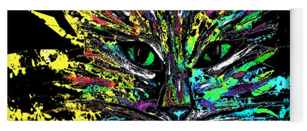 Abstract Cat  Yoga Mat