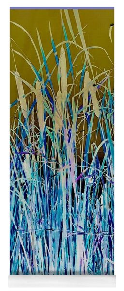 Abstract Cattails Yoga Mat