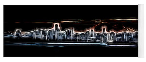 Abstract City Neon Yoga Mat