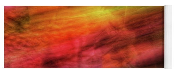 Abstract Color Streaks Of Orange, Yellow, Pink, Purple And Green Yoga Mat