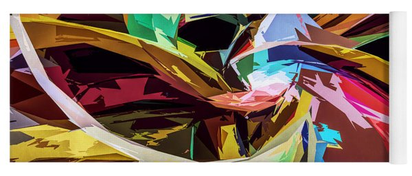 Abstract Colors Yoga Mat