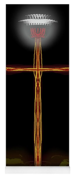 Abstract Cross With Halo Yoga Mat