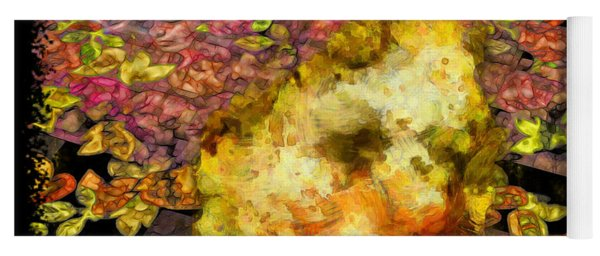 Abstract Flower Girl Yoga Mat