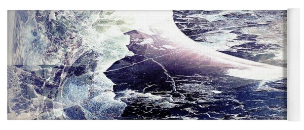 Abstract Ocean Enigma Yoga Mat