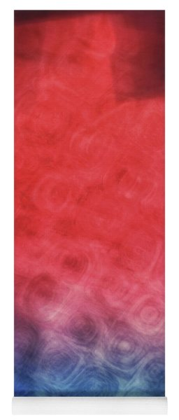 Abstract Of Patterns Of Blue, Red And Pink Colors Blurred And Blended Together Yoga Mat