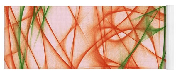 Yoga Mat featuring the painting Abstract Orange by Marian Palucci-Lonzetta