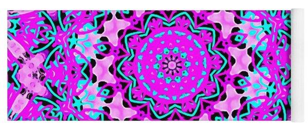 Abstract Spun Flower Yoga Mat
