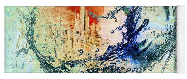 Abstract Water Splash Yoga Mat