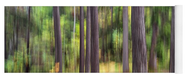 Abstract Wood Yoga Mat