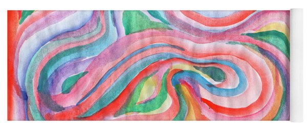 Abstraction In Spring Colors Yoga Mat