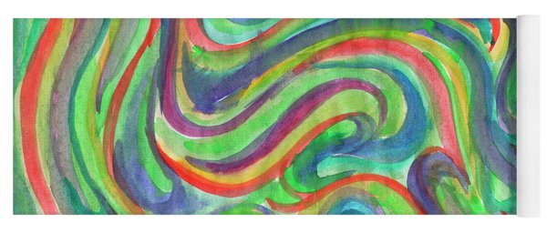 Abstraction In Summer Colors Yoga Mat