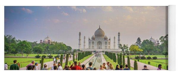 Admiring The Taj Mahal Yoga Mat