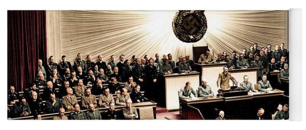 Adolf Hitler Declaring War On America  Dec  11th  1941 Yoga Mat