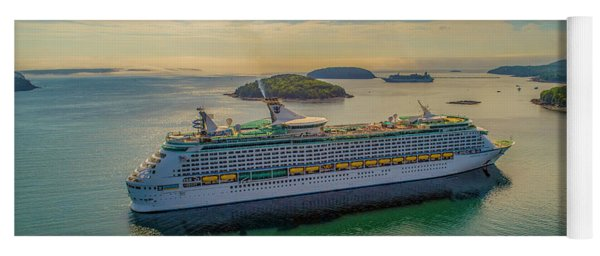 Yoga Mat featuring the photograph Adventure Of The Seas, Bar Harbor  by Michael Hughes