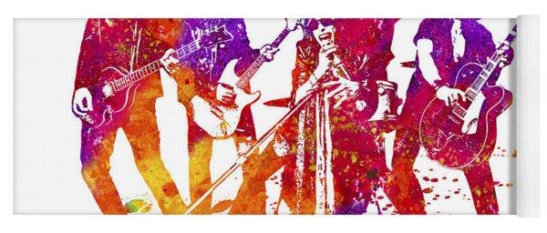 Aerosmith Band Watercolor Splatter 01 Yoga Mat