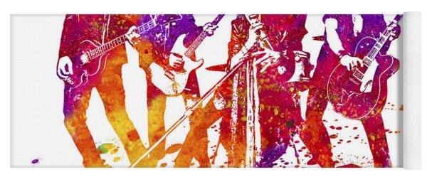 Aerosmith Band Watercolor Splatter 03 Yoga Mat