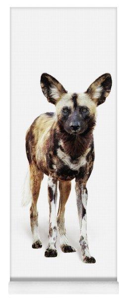 African Wild Dog Named Ginger Yoga Mat