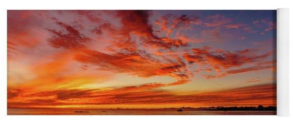 After Sunset Colors At Kailua Bay Yoga Mat