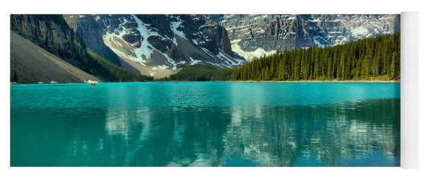 Afternoon Rocky Reflections At Moraine Lake Yoga Mat