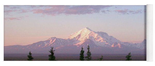 Yoga Mat featuring the photograph Alaska Mountain Sunset by Mark Duehmig