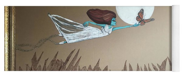 Alien Chasing Her Dreams Yoga Mat