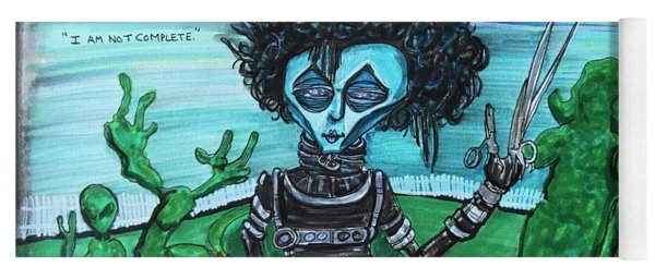 Alien Scissorhands Yoga Mat