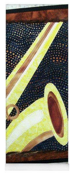 All That Jazz Saxophone Yoga Mat