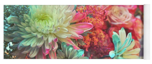 Yoga Mat featuring the photograph All The Florals by Jamart Photography