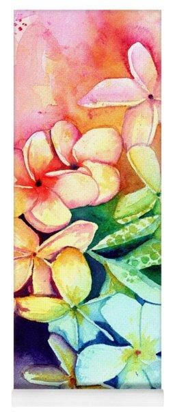 Aloha Plumeria Blossoms Yoga Mat